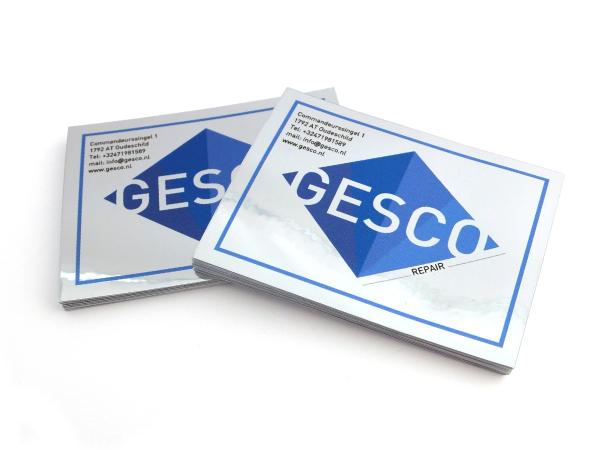 Aluminium stickers